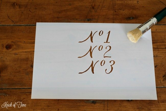 script font number stencil - Knick of Time