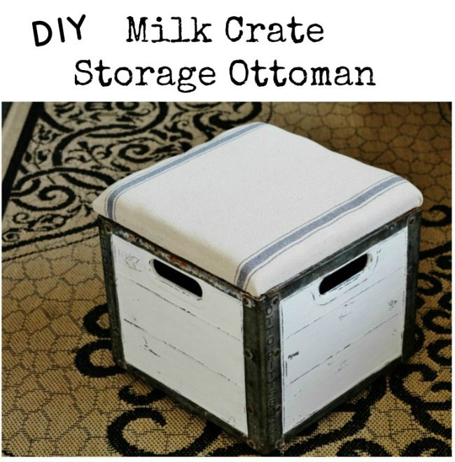 Amazing Milk Crate Storage Ottoman My Repurposed Life Rescue Re Onthecornerstone Fun Painted Chair Ideas Images Onthecornerstoneorg