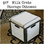 Milk Crate Storage Ottoman