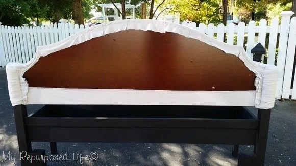 back of upholstered headboard bench