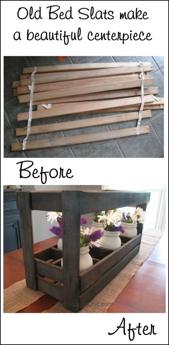 old-bed-slats-make-a-beautiful-centerpiece-scavenger-chic-for-myrepurposedlife-com