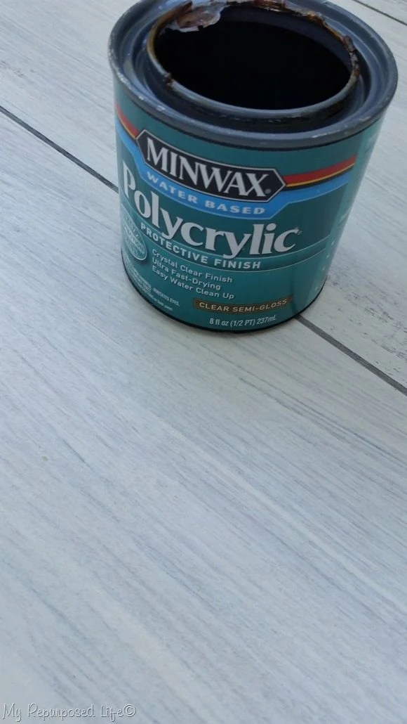 protect whitewashed plank floor with polycrylic