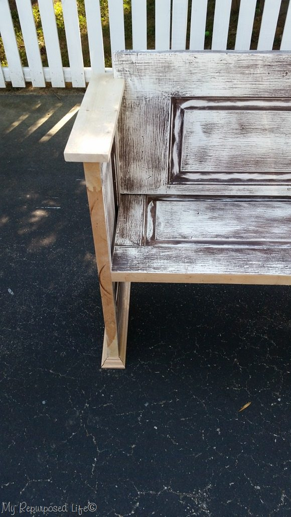 fitting armrest on door bench