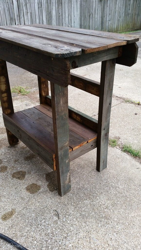 outdoor bar kitchen island reclaimed salvaged wood