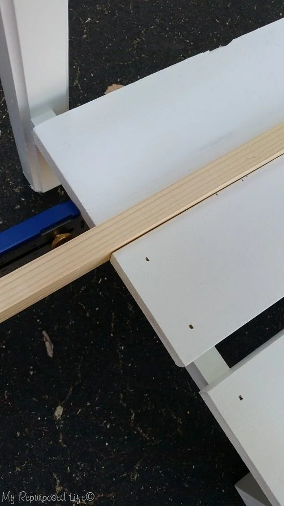 spacing shelf slats