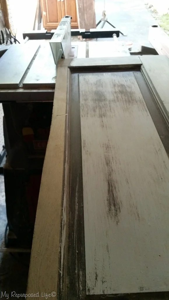 trim door on table saw
