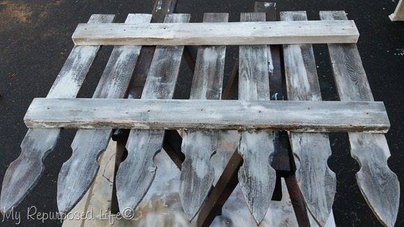 whitewash old picket fence coat rack