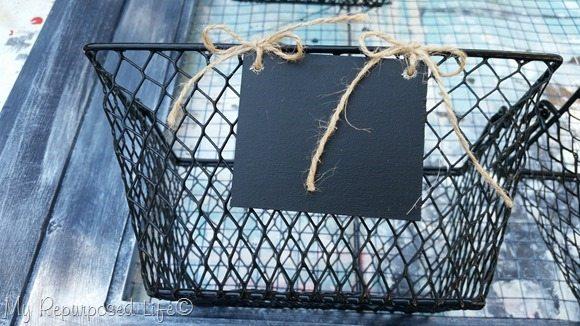 wire basket easy chalkboard tags