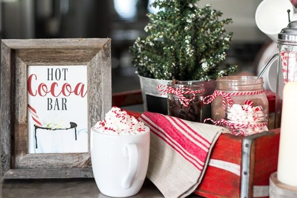 hot cocoa station free printable