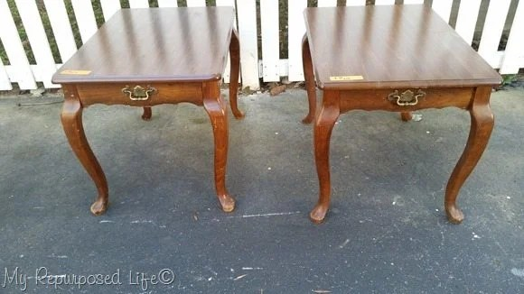 old queen anne side tables repurposed furniture