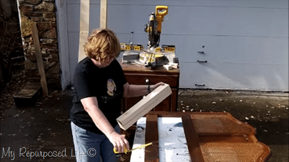 cut legs out of ripped 2x4's