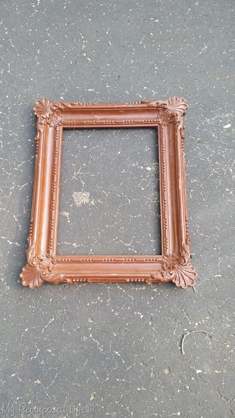 the ugliest brown frame ever