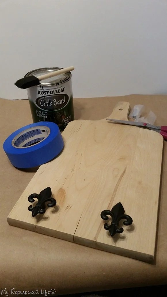 design plan for cutting board key rack