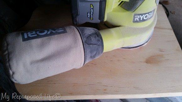 lightly sand cutting board