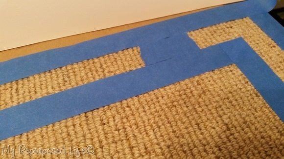 painting border on rug