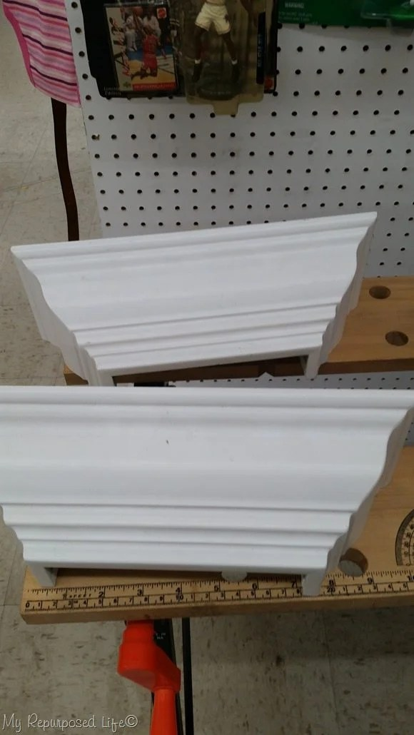 small white shelves