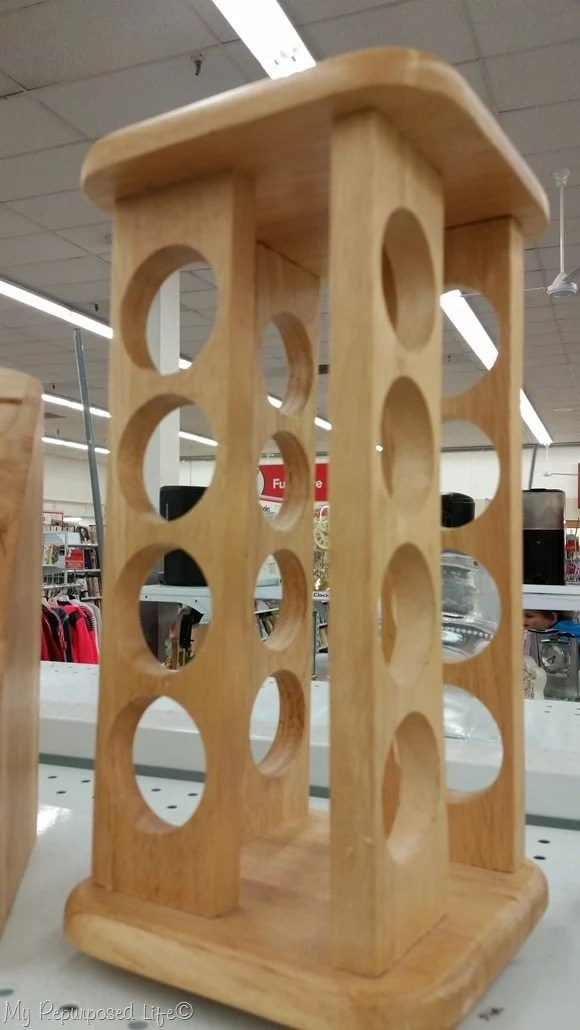 wooden spice rack