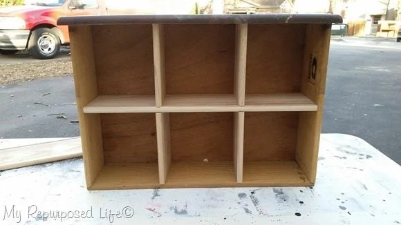 drawer made into cubby