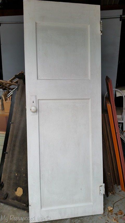 free white 2 panel door