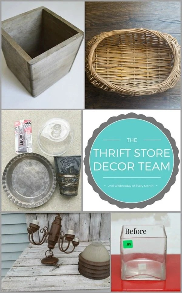 Thrift Store Decor Challenge March 2017