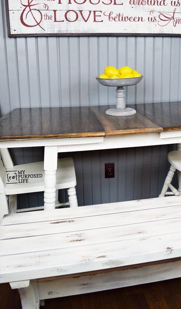 diy 2x4 easy bench for table or patio MyRepurposedLife.com