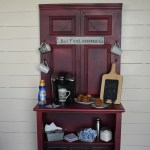 Coffee Station Cabinet | repurposed door and dresser eBook