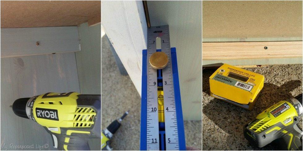 secure bi-fold doors to dresser