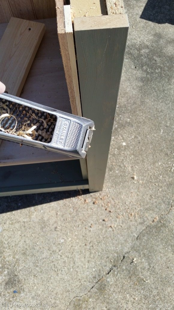 trim excess by hand with a rasp