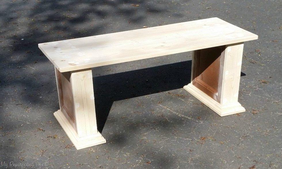 cabinet door bench