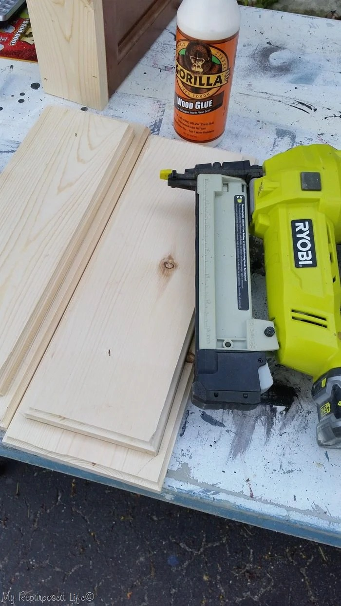 glue and nail base boards together