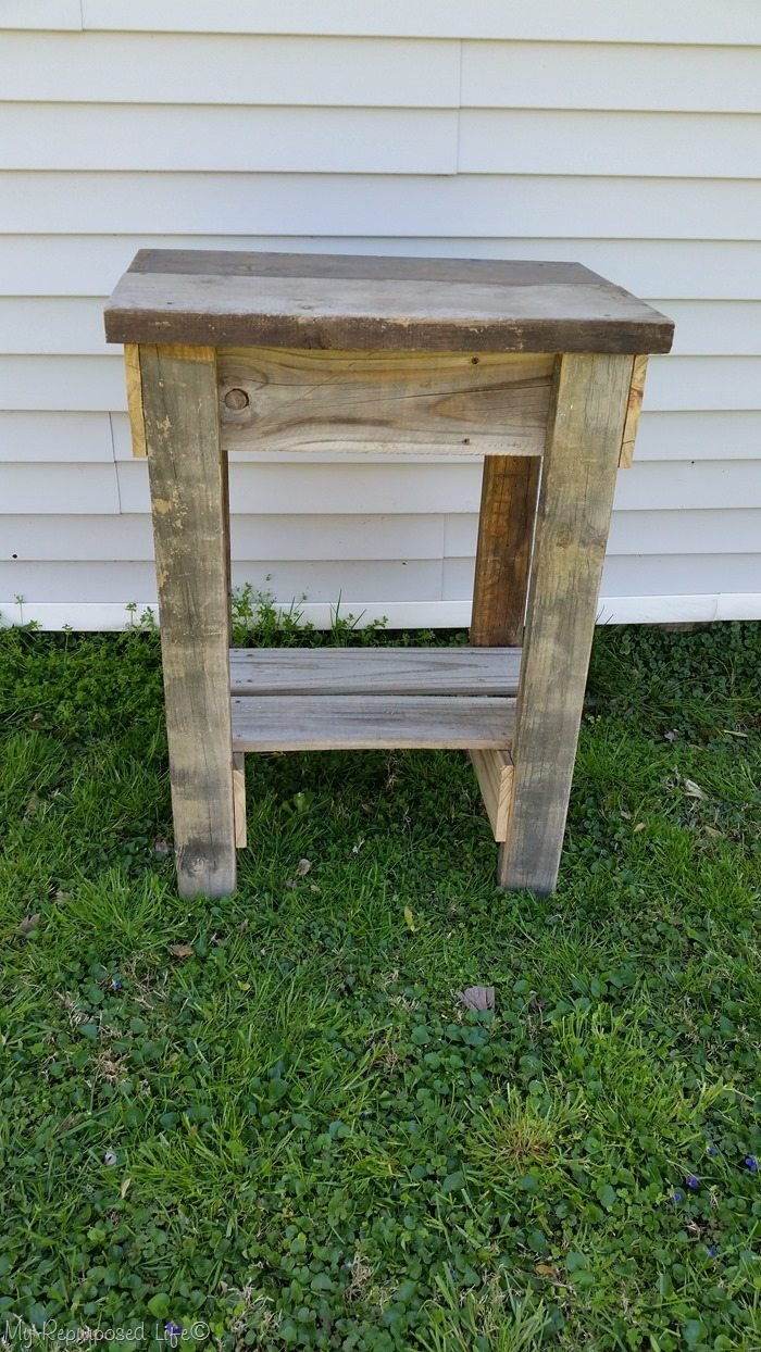 rustic garden table
