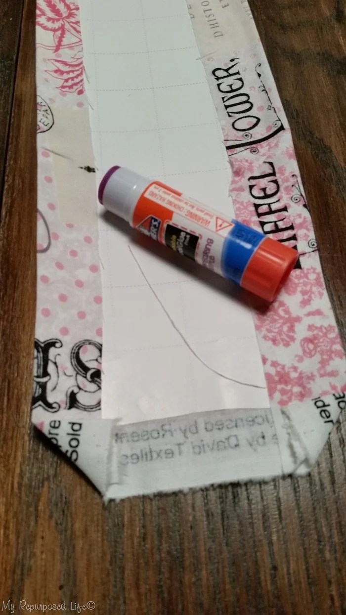school glue stick vintage suitcase lining