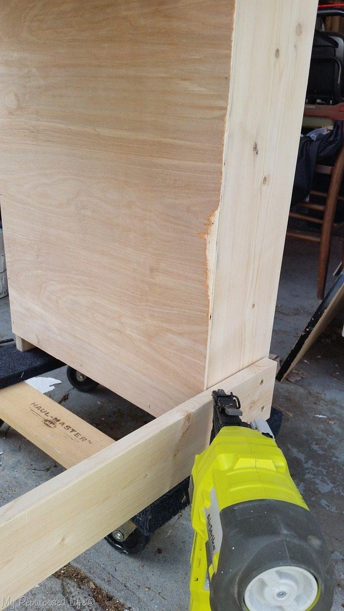 thin plywood back for bookshelf
