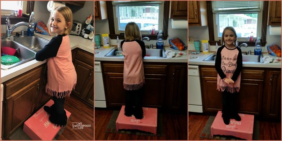 mommys little helper repurposed stepstool MyRepurposedLife.com