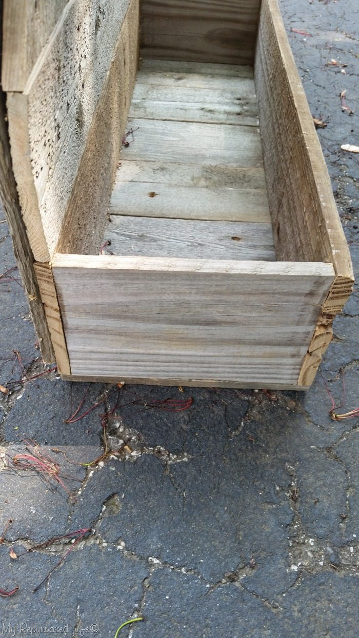 planter box on faux gate