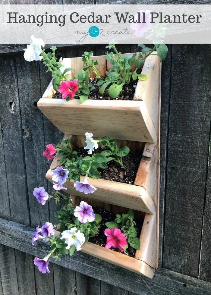 Hanging Cedar Wall Planter