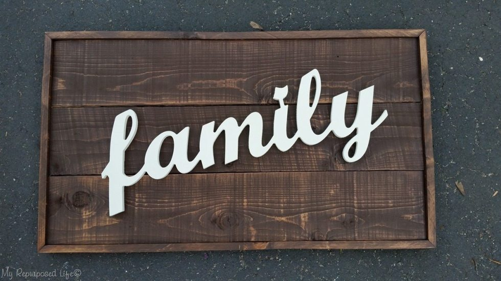 attach family rustic wood sign