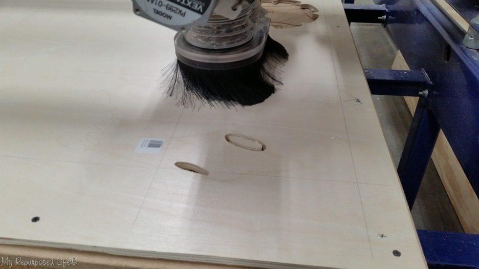 cnc machine shop bot at Maker 13