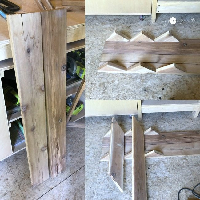 figuring out planter design with scrap wood