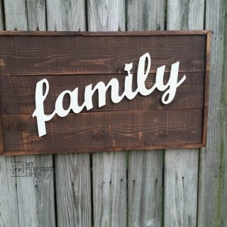 routed family sign