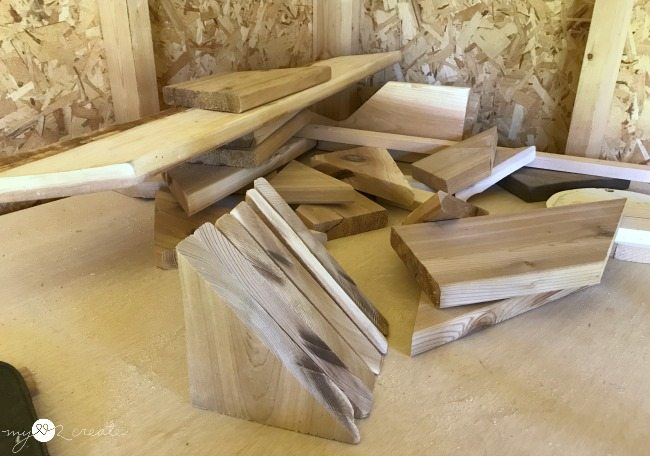 scrap wood triangles