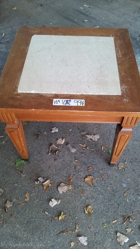 1 dollar mid century modern small table