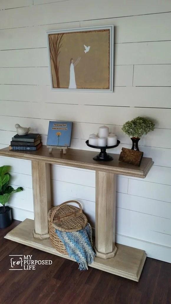 DIY double column console table MyRepurposedLife.com
