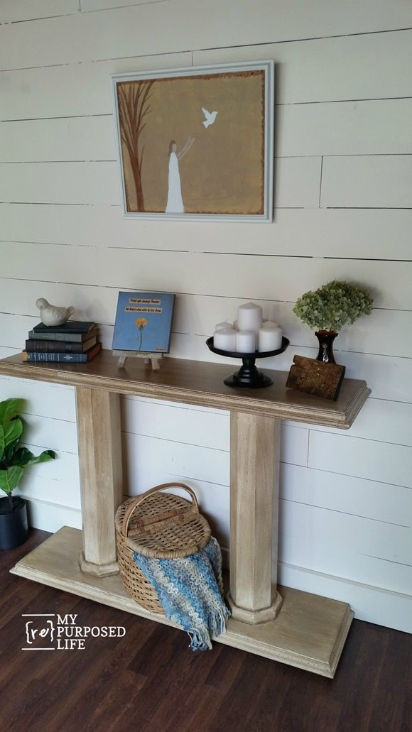 DIY double column console table MyRepurposedLife.com