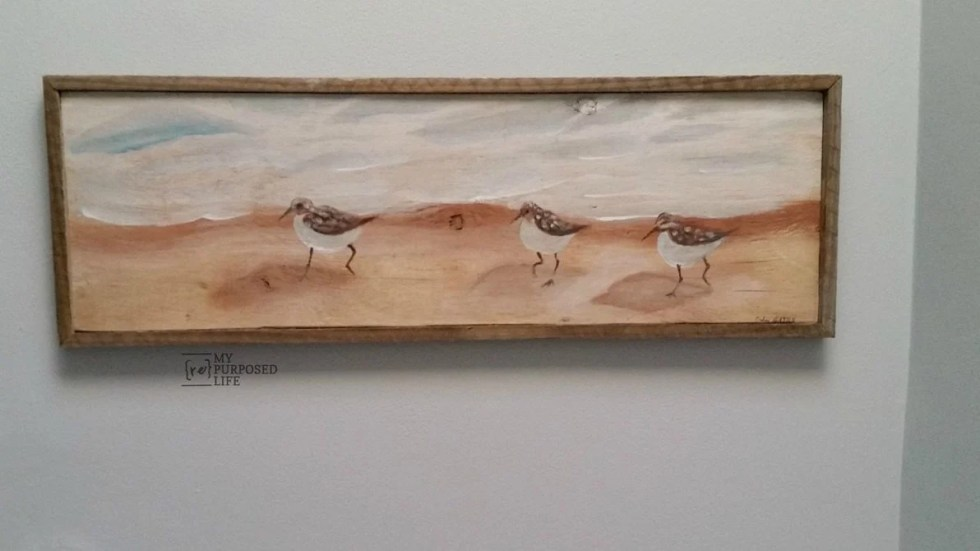 How to make a rustic frame for reclaimed artwork MyRepurposedLife.com
