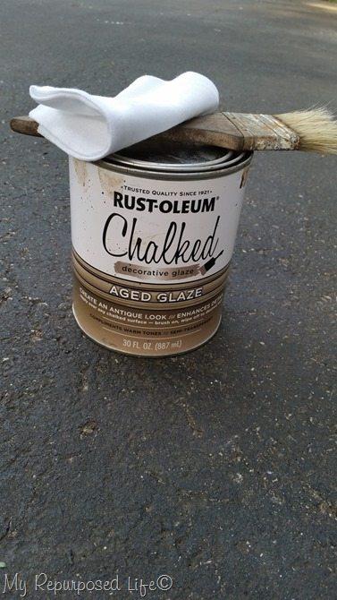 antique chalked glaze