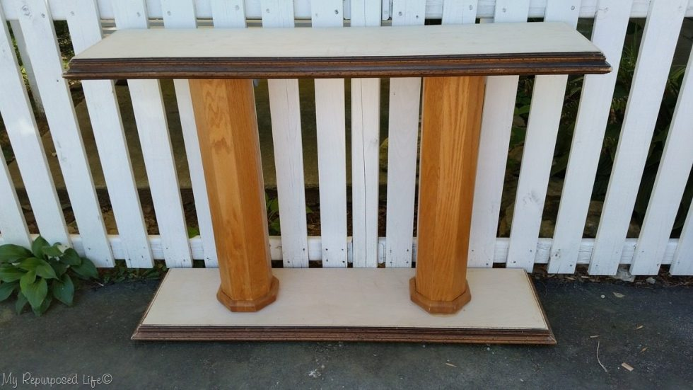 double column console table unfinished