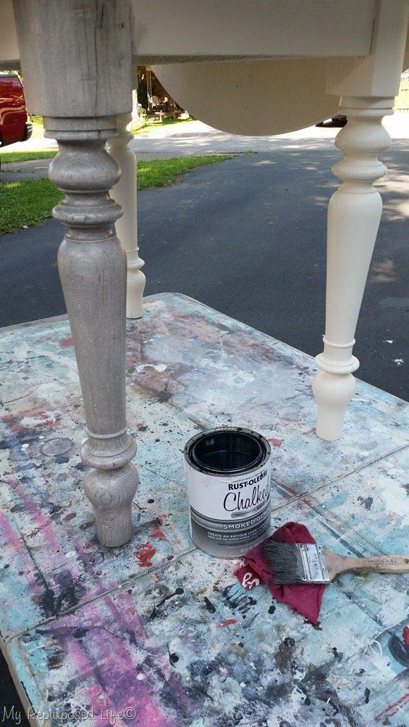 oak table glazing