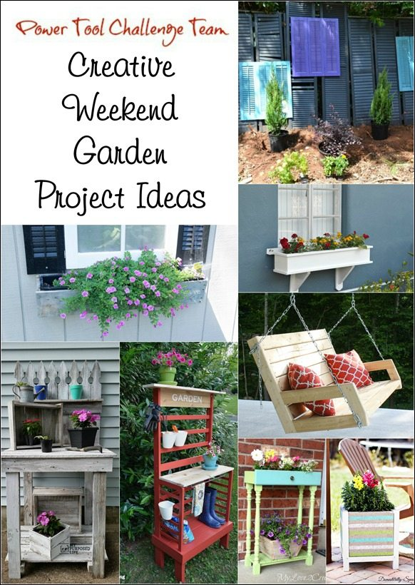 power tool challenge team creative weekend garden project ideas MyRepurposedLife.com
