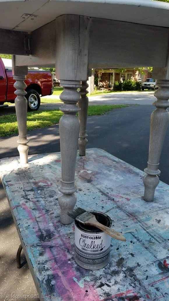 rustoleum chalked glaze white table